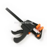 Wholesale 6 quot Quick Ratchet Release Speed Squeeze Wood Working Work Bar Clamp Clip Kit Spreader Gadget Tool DIY Hand order lt no track