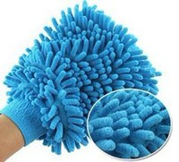 Wholesale Car wash glove towel coral thick double edged waterproof gloves Microfiber Snow Neil fiber Cleaning high density mitt
