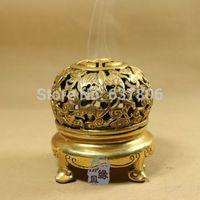 Wholesale Chinese brass carved Bat Censer incense burner