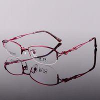 Wholesale Fashion glasses frame Pure titanium eyeglasses women glasses frame