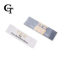 adhesive name tags - heat custom clothing garment ferro iron on hot melt glue on adhesive clothing labels woven embroidered main labels name tags