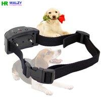 barking dog sensor - CN Automatic Dog Anti Bark Collar Electric Shock Vibration and Sound Sensor Intensities WALZY PET