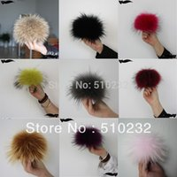 Wholesale Fashion cm Raccoon Fur Ball In Women s Beanies Fur Pom Poms For Hat And Cap Women Hat Accessories