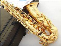 alto baritone - 2015 New xas t alto saxophone musical instruments professional sax music gold carved baritone saxophone