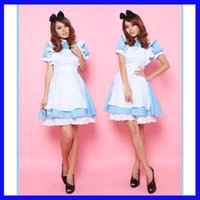 alice in wonderland costumes - Cosplay Costumes Alice in Wonderland Maid dresses sexy sets women mini skirt COS animation clothing uniform temptation