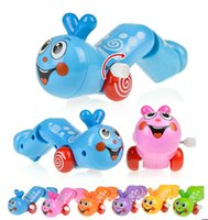 Wholesale 50pcs Kids Baby Wind Up Toy Animals Plastic Worm Toys Educational For Boys Girls 15121001