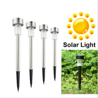 solar indoor light - 2015 new arrival LED solar light Lawn graden outdoor Plug lights Plastic and stainless steel sunshion charge lamp christmas decoration outdo