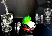 Wholesale new recycler glass bong with bowl and oil rig glass dome glass nail mm Hookah glass smoking pipes