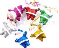 ball coloring - MOQ Christmas Santa Coloring Santa Claus is hanged adorn PLSATIC BALL Christmas decoration gifts colors cm