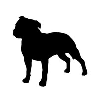 Wholesale Staffordshire Bull Terrier Dog Pet Lover Vinyl Decal Sticker For Car Truck Boat Window Bumper Home Wall