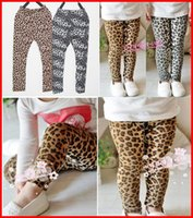 Summer baby leopard tights - Free Ship Spring Baby Girls Leopard Leggings Fashion Children Print COOLEYE Pants Kids Fall Winter Clothing Warm Trousers
