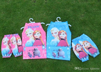 Wholesale 2014 New Frozen Aprons Sanitary Waterproof aprons Frozen Painting Children Cover Up with sleeves cover H01470