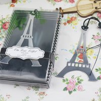 al por mayor torre eiffel al por mayor del partido-La boda favorece los pequeños regalos El metal de la torre Eiffel señala favores de partido nupciales de la ducha La boda suministra 100pcs al por mayor