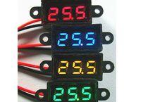 Wholesale Freeshipping inch V digital mini voltmeter Yellow Blue Green Red waterproof
