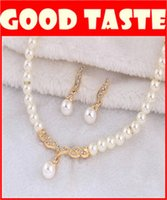 Wholesale High grade pearl necklace Matching earrings high end pearl diamond jewelry jewelry bride