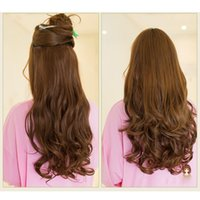 Wholesale Fashion Clips Long Big Wave Hair Thicken Fashion Popular Goddess Charming Curled Hair Extension order lt no track