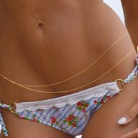acting double - act the role ofing is tasted hot sexy simple double waist chain tassel body chain