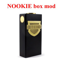 battery contact material - Newest Nookie Box Mod Dual Battery Mechanical Mod Thread Copper Contact SS Brass Material fit Hellboy Mutation X V6 Oczy RDA Clone