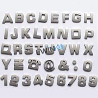 alphabet car decals - Easy install Chrome Alphabet Letters Auto Emblems Number badges D decal For Car Bike