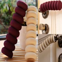 Wholesale 2pcs Children Safety Screw Type Door Handle Knob Bumper Cushion Protective Cover Sleeve Colors