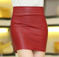 Wholesale Full genuine leather skirt women skirt hot sell spring sheepskin high Waist skirt fashion package hip skirt women fashion skirt short