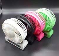 Plastic cool led gadgets - New Arrival Mini USB LED Lamp Fan Cooling Gadgets with Adjustable Speed Fan Black White Red Green Optional