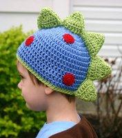 Wholesale Handsome Boys cotton warm hats baby crochet knit children caps kids winter warm accessories baby crochet hat with panda masks