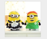 bean movie - Newest Despicable me Plush Toy Movies cartoon D minion plush soya beans With the maid Soft baby Toy