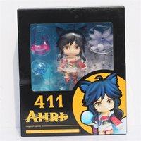 fox boxes - 5PCS League of Legends LOL Nine Tailed Fox Ahri Q version PVC Dolls Toys action figure with box