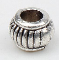 alloy spacers - NEW mm Tibetan Silver Lantern Beads Spacers Findings hole mm Jewelry Diy Loose Beads Hot