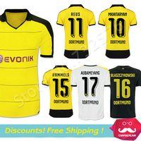 Wholesale Thai Quality Dortmund Jerseys Borussia Dortmund FC soccer jersey Home KAGAWA REUS HUMMELS camisa Dortmund football Shirt