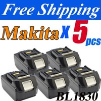 Wholesale pack NEW Makita V A volt Lithium battery Makita BL1830 Tool battery EMS order lt no track