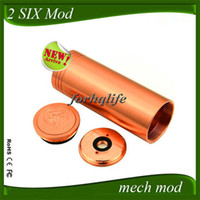Electronic Cigarette Mod  Tesla 2 Six 26650 Copper & stainless steel ecig mod 26650 2six mod clone of 510 Thread VS 26650 Stingray Hades Panzer Mutant DV JA AR Mod
