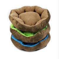 Wholesale 1601 Deluxe Soft Washable Cat Dog bed Pet Warm Basket Bed Cushion Pet house Camas Para Perros colors