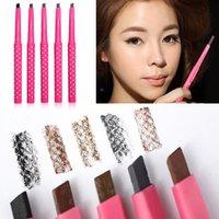 Wholesale Waterproof Longlasting Eyebrow Pencil Eye Brow Liner Powder Shapper Makeup Tool New