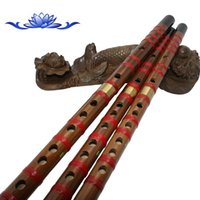 Wholesale Traditional Chinese Bamboo Flutes Portable Brass Black End Alto G Fultes Holes Music Instuments Woodwind