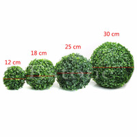 artificial boxwood balls - New Artificial Plant Ball Tree Boxwood Wedding Event Home Outdoor Decoration Hot