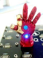 Wholesale Avengers LED Iron Man Hand Model GB GB GB GB USB Memory Stick USB Flash Drive Blister Packaging DHL