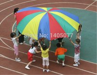 Wholesale Children s sports toys m Outdoor Rainbow Umbrella Parachute Toy Jump sack Ballute Play For Kids