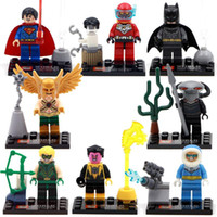 Wholesale SY283 DC Justice League Minifigure Building Blocks Set Model Bricks Toy Manta Hakwman Batman Avengers Aciton Figure DIY Toy