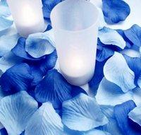 aqua rose petals - Royal Blue and Aqua Blue Wedding Confetti Petals Silk Rose Petals for Wedding Party Decoration Holiday Suppleis