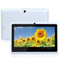 Comprimé q88 allwinner Prix-7 pouces A33 quad-core Q88 pc tablette Allwinner Android 4.41.2GHz 1 Go de RAM 8 Go Bluetooth Wifi