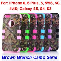 galaxy s3 phone - Real Tree Camo Cases Serie For iphone Plus S S C Samsung Galaxy S5 S4 S3 Waterproof Cell Phone Case Hybrid Silicone Plastic Shell