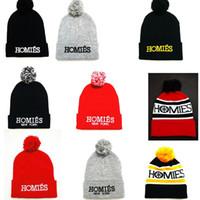 homies - Winter Colorful Homies Beanie Hats Cheap Homies Beanies Hat Knit Pattern Skull Caps Fashion Man Woman Winter HOMIES Baggy Ball Cap
