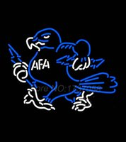air force sign - Air Force Falcons Mascot Neon Sign Avize Dallas Cowboys Jers Neon Sign Real GlassTube Handicraft Present Beer Bar Lamp