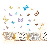 Wholesale 2015 new Sell like hot cakes DIY Home Decoration Wall Sticker Butterfly PVC Removable Wall Decal