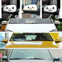 Wholesale 1set Cute Car Styling Smile Face D Decal Black Sticker for Auto Car Side Mirror L R Rearview