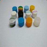 Wholesale 2 Ml Mini Round Non stick Silicone Concentrate Container Jar Dab For Oil Wax Atomizer Multi colors