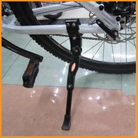 Wholesale Aluminum Adjustable Mountain Bike Bicycle Side Kickstand Kick Stand Kit Universal Black With Set of Installation Gadgets