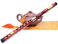 Wholesale Chinese Dizi Natural bamboo flute musical instrument CDEFG bB Key Professional binodal double plug flute CDEFG key